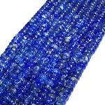 1 Strand of 8x5mm Puff Rondelle Semiprecious Gemstone Beads - Lapis Lazuli